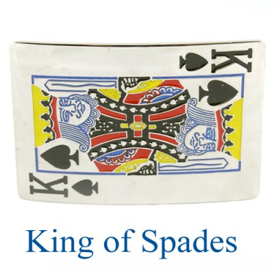 King Of Spades Belt Buckle