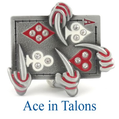 Ace In Talons Belt Buckle