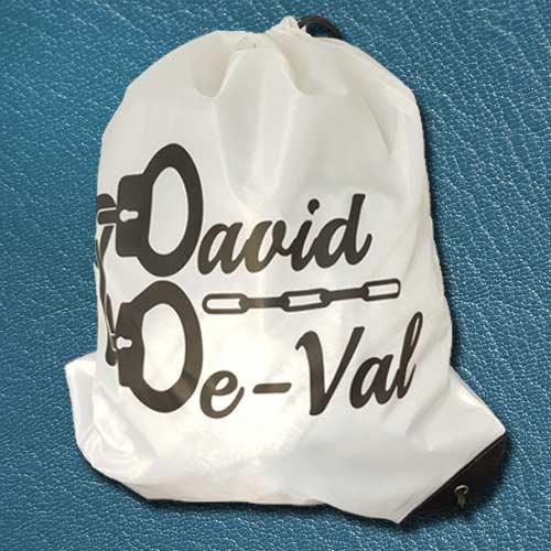 Limited Edition David De-Val Drawstring Bag by PropDog