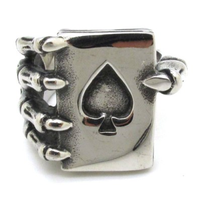 Skeleton Hand Spade Ring