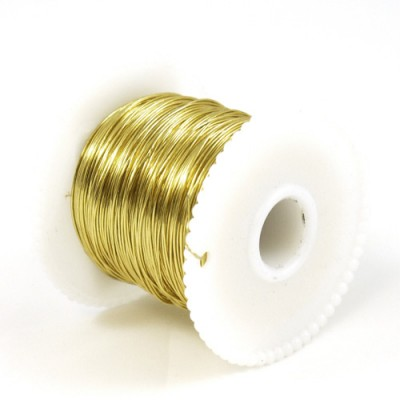 Foil Wrap Wire - 100m Spool (Gold)