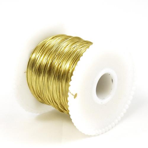 Foil Wrap Wire - 100m Spool (Gold)