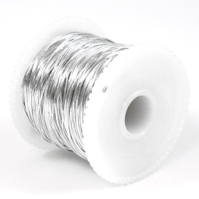 Foil Wrap Wire - 100m Spool (Silver)