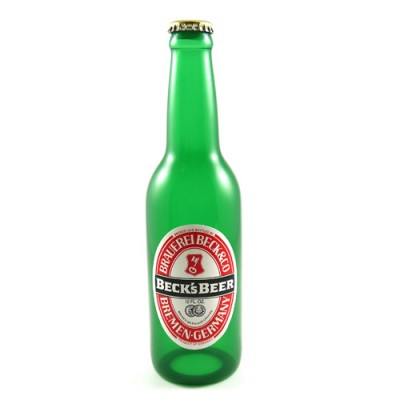 Nielsen Vanishing Becks Beer Bottle - Extra Label