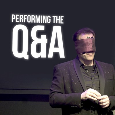Performing the Q&A - Gerry McCambridge