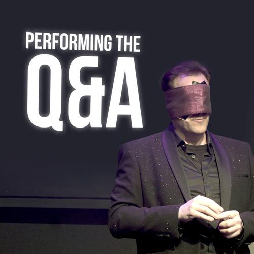 Performing the Q&A - Gerry McCambridge