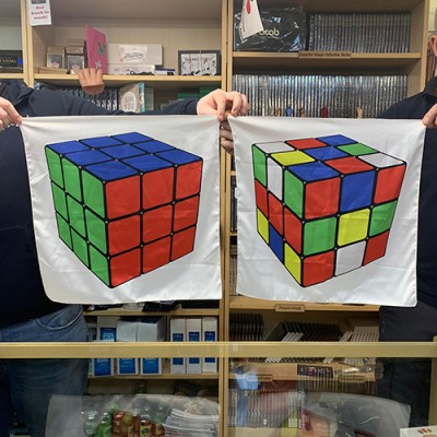 Rubik's Cube Silk Pair by PropDog