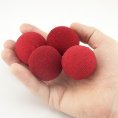 "1.5"" Ultra Soft Sponge Ball by Goshman - Red"