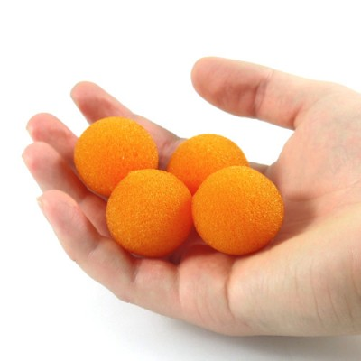 "1"" Super Soft Sponge Balls by Goshman - Orange"