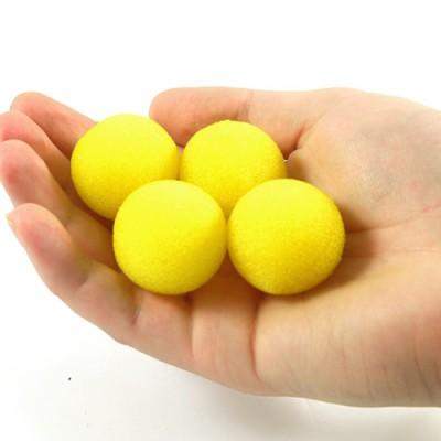 """1"""" Super Soft Sponge Balls by Goshman - Yellow"""