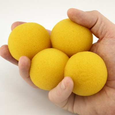 "2"" Super Soft Sponge Ball by Goshman - Yellow"