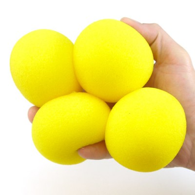 """3"""" Super Soft Sponge Balls by Goshman - Yellow"""
