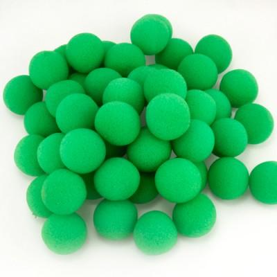 """1.5"""" Super Soft Sponge Balls - Bag of 50 in Gree"""