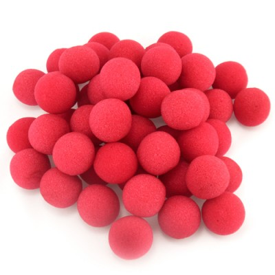 "1"" Super Soft Sponge Balls - Bag of 50 in Red"