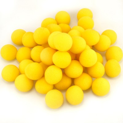 "1.5"" Super Soft Sponge Balls - Bag of 50 in Yellow"