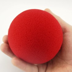 "4"" Reg Sponge Ball Goshman - Red"