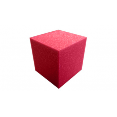"5"" Super Soft Sponge Cube by Goshman - Red"