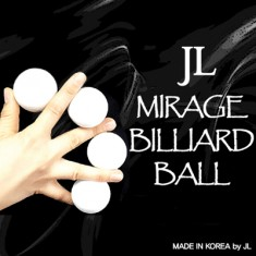 "2"" White Mirage Billiard Balls by JL - Three plus Shel"
