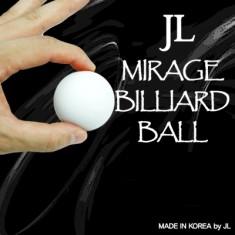 "2"" White Mirage Billiard Ball by JL - Single ball only"