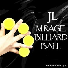 "Mirage Billiard Balls 1.7"" by JL (Yellow, 3 Balls and Shell)"