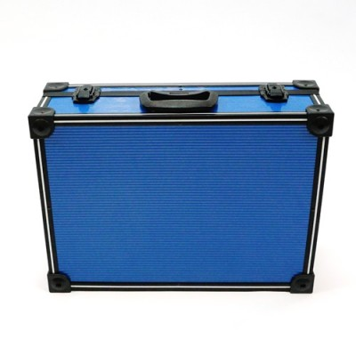 Blue PVC and Aluminium Close Up Case
