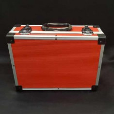 Red PVC and Aluminium Close Up Case - Small