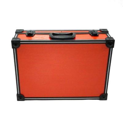 Red PVC and Aluminium Close Up Case