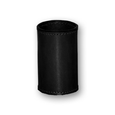 Leather Coin Cylinder - Dollar Size - Black